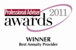 Partnership, award, annuity, Professional Advisor, 2011